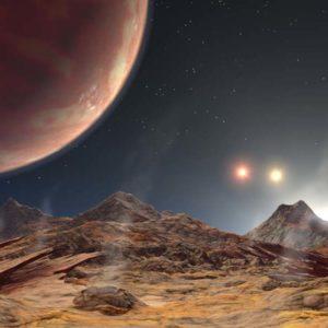 複数の太陽がある惑星が発見される