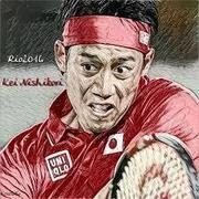 男子テニス選手の錦織圭佑