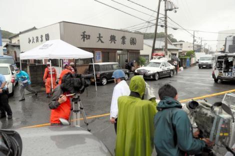 和歌山市塩屋ある土木建設会社の和大興業で発砲事件