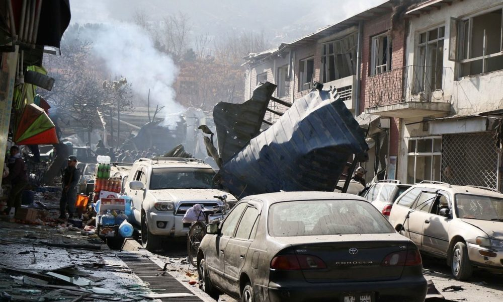 アフガニスタン首都のカブールで救急車を使った自爆テロ