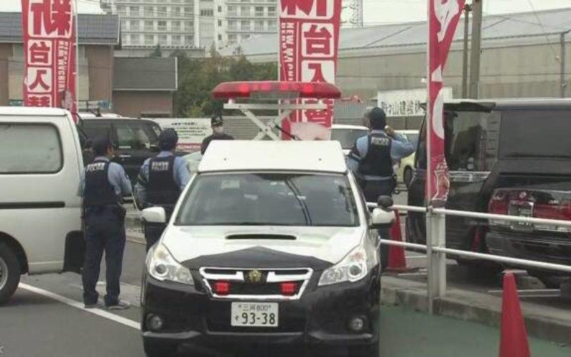 愛知県知立市のパチンコ店メガコンコルドの駐車場で現金強奪事件