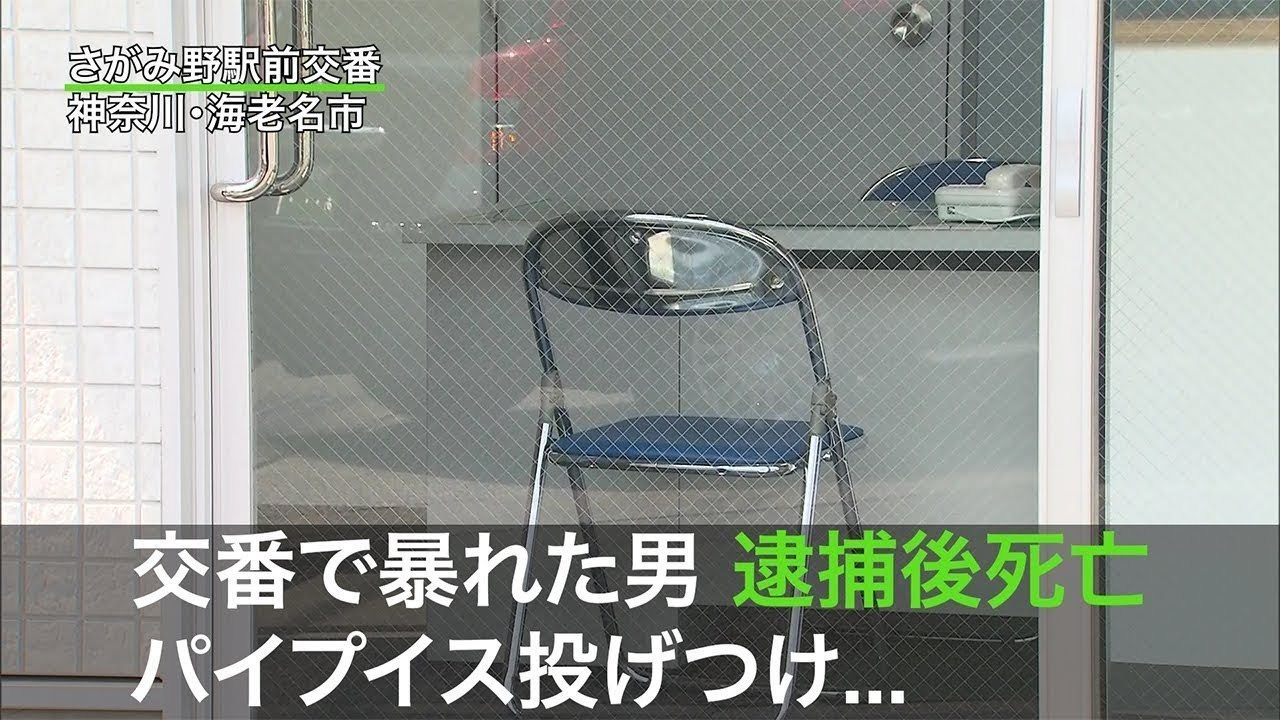 神奈川県海老名市の駅前交番で取り押さえた外国人男性が死亡