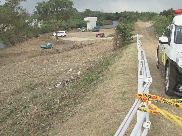 愛知県西尾市の矢作古川にある河川敷でスーツケースに入れられた白骨遺体