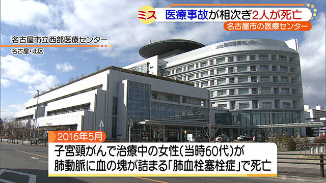 名古屋市立西部医療センターで子宮頸がんの女性が医療ミスで死亡