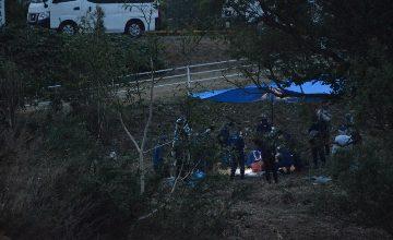 愛知県西尾市鵜ケ池町の河川敷でトランクの中から白骨遺体