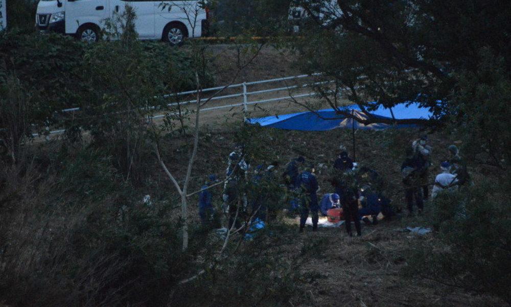 愛知県西尾市にある矢作古川の河川敷でスーツケースに白骨遺体