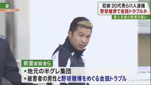 兵庫県尼崎市にある路上で2人の男性に半グレがバールで集団暴行