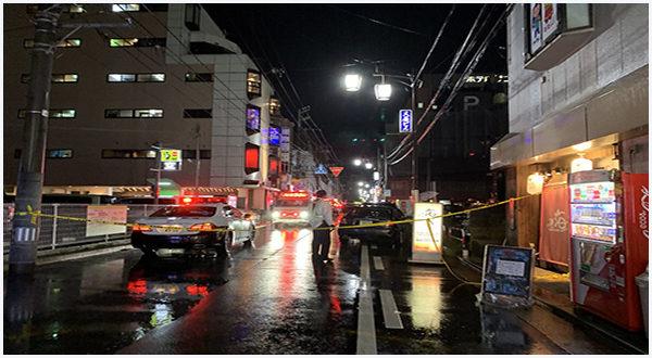 新潟市中央区にある雑居ビルで飲食店勤務の女性が男に刃物で刺殺事件