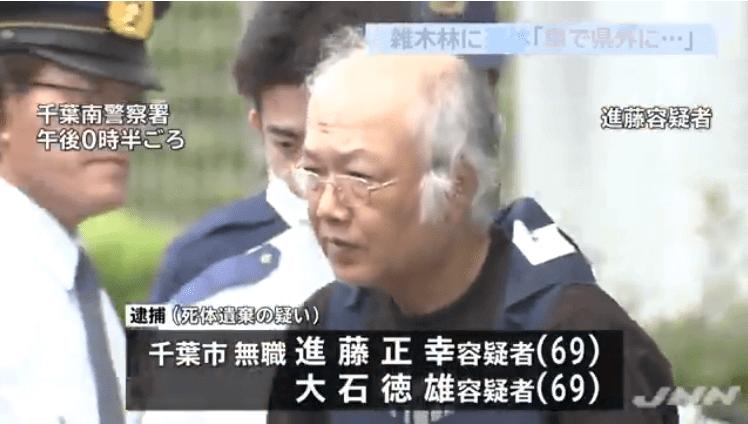 千葉県東金市の雑木林に男性の遺体を遺棄して埋めた事件裁判
