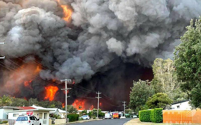 オーストラリア東部で森林火災に加えて他にも70ヶ所で大規模な火災