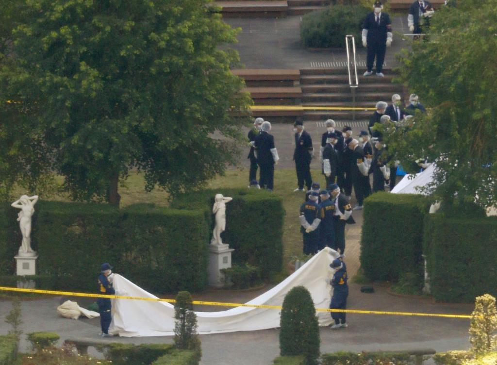 東京都港区にあるイタリア公園敷地内で土の中に埋められた乳児の遺体