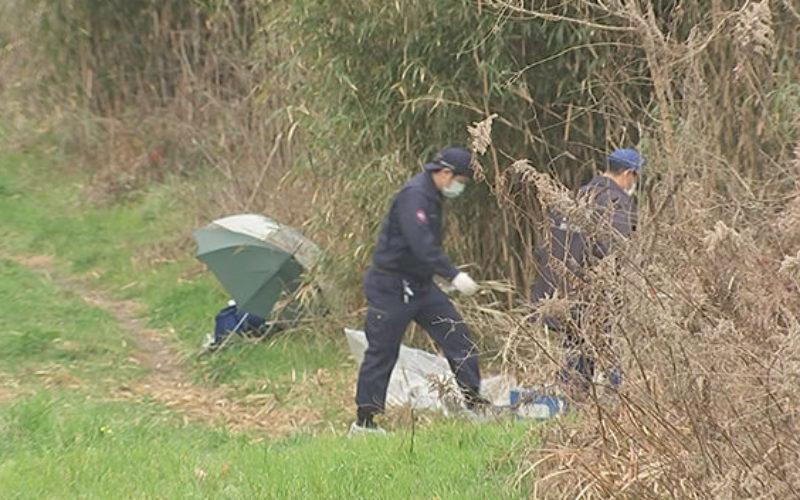 熊本市南区城南町にある緑川河川敷で男性の遺体