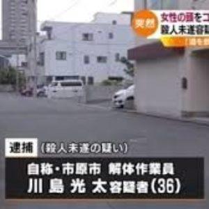 千葉市の路上で面識のない女性の頭部を男がコンクリートブロックで殴打