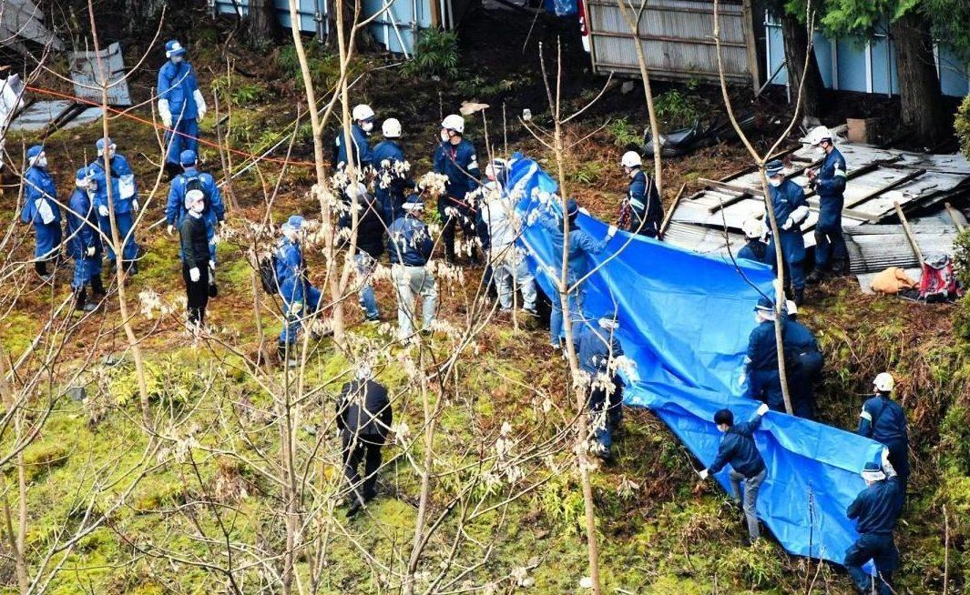兵庫県加古川市内の山中の空き地で車を全焼させ所有者の遺体遺棄