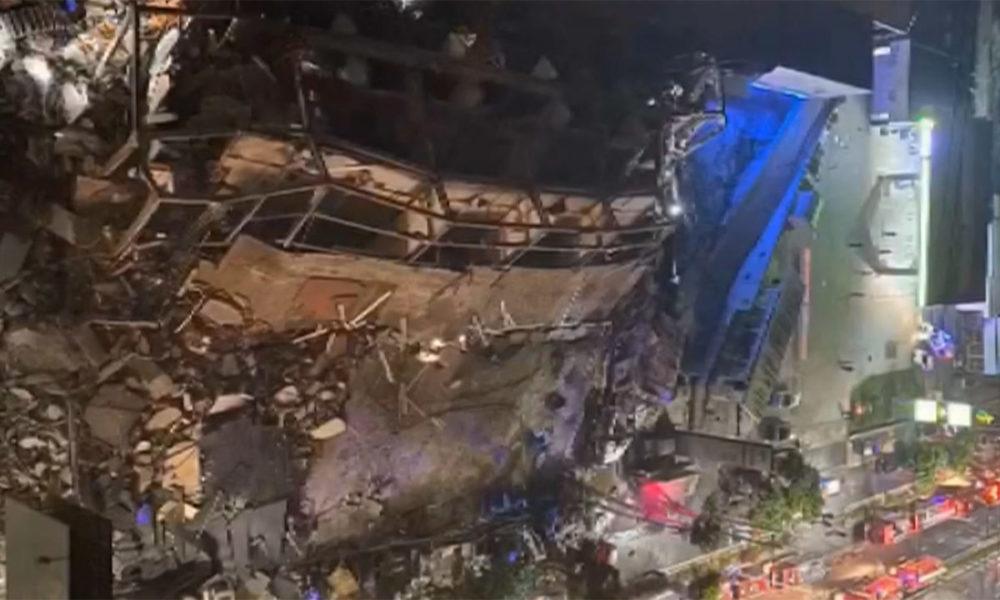 中国福建省で新型コロナウィルス隔離施設のビルが崩壊