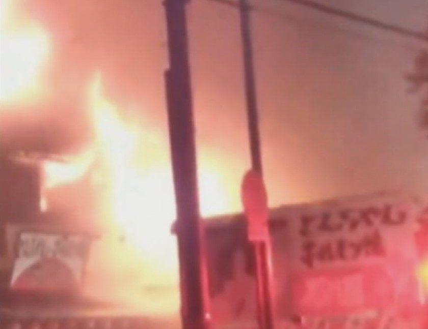 焼肉店の元従業員の男が金欲しさに店内に侵入して現金を奪って放火