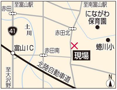富山市赤田の側溝に殺害され入れられたベトナム国籍の実習生