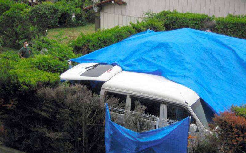 埼玉県和光市のマンション駐車場に止められた車から男性の遺体