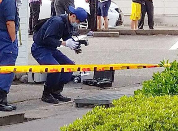 富山市赤田の側溝で男性が死亡している遺体