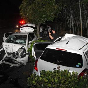 山口県下松市の国道2号線で車が逆走して8台が絡む激突事故