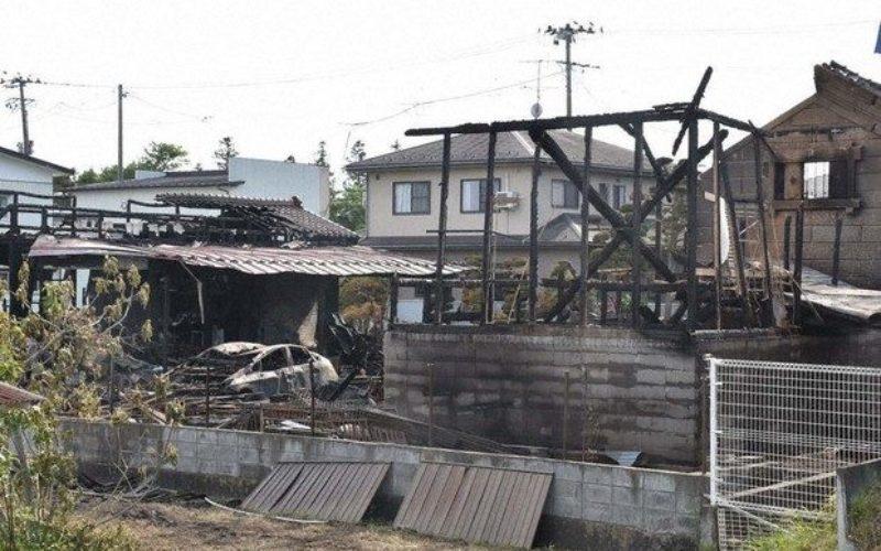 宮城県栗原市の電気店から出火して5棟の店舗を全焼して鎮火