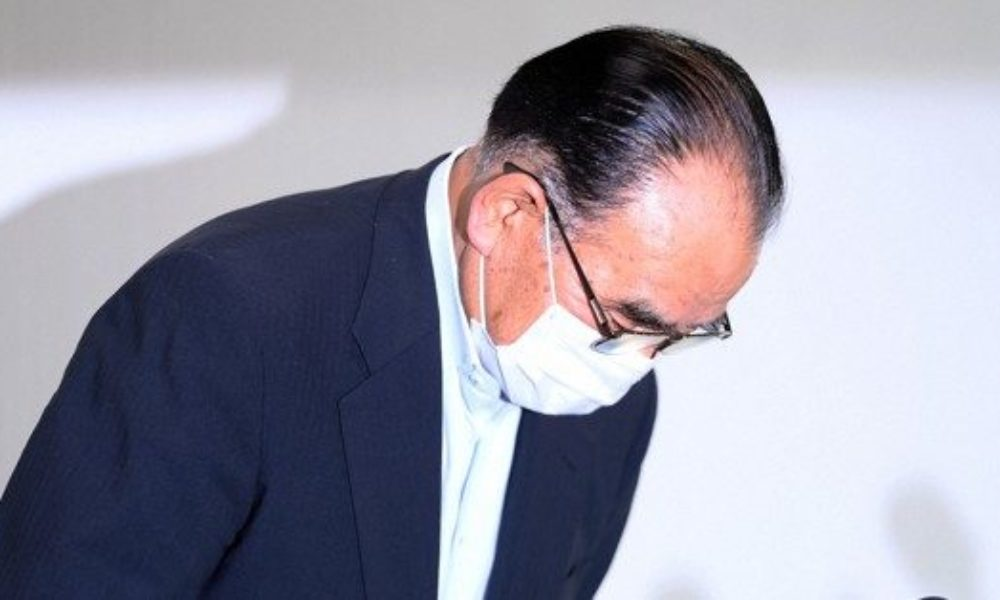 前法務大臣から三原市長に現金が受領されていた事実を認める