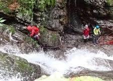 群馬県中之条の四万川で沢登りをしていた大学生が流され行方不明