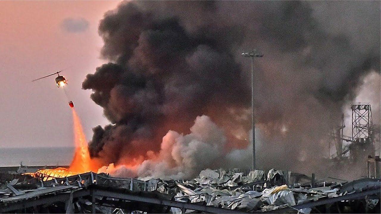 レバノンの首都ベイルートで大規模な爆発事故