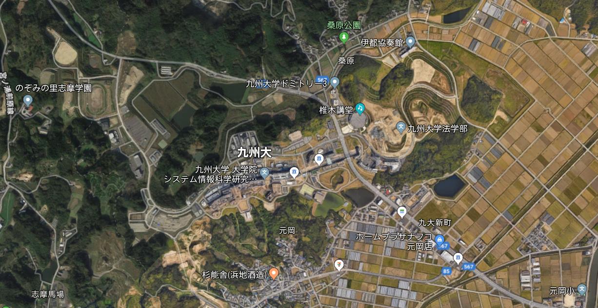 福岡市西区にある九州大のキャンバスで池の中に浮いていた男性遺体