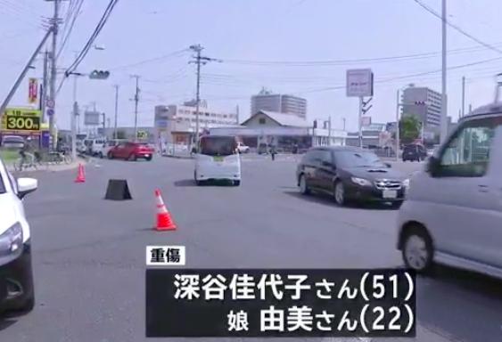 水戸市の交差点でトラックとワゴン車が激突してトラックの運転手が車を置いて逃走
