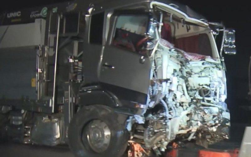 大型トラックの運転手が酒を飲み4人の死傷事故を起こして死んだふり?