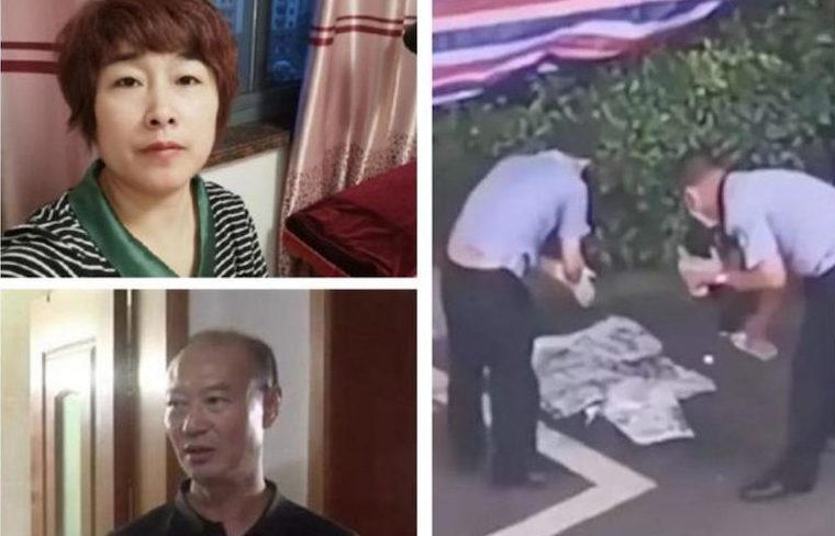 中国の浙江省で夫が妻の遺体を切断して浄化槽の中に遺棄