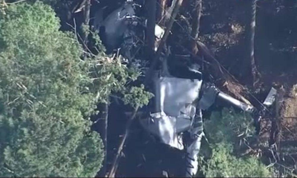 静岡県島田市大代の山林にヘリが墜落して大破し操縦士が死亡