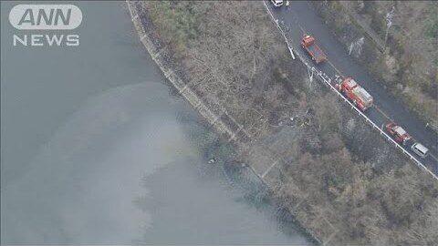 神奈川県で大型ダンプがガードレールを突き破り丹沢湖に転落