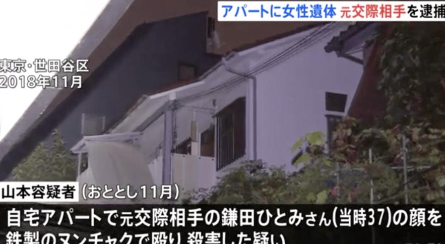 東京都世田谷区にある自宅で交際相手の女性を撲殺