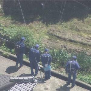 神戸市北区の畑に横転した車のトランクに入れられた男性の遺体