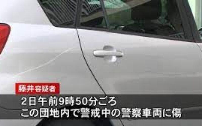 愛媛県の市営団地で複数の車に傷をつけていた男が警察車両に傷をつけ逮捕