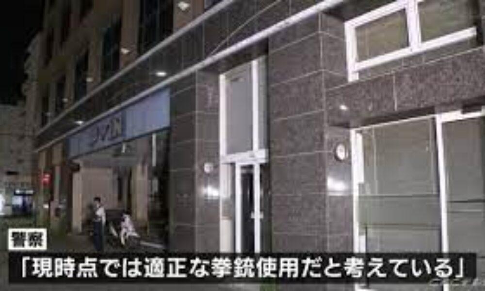 名古屋市西区の駐車場で刃物を持った男が警官の制止を無視して発砲され死亡