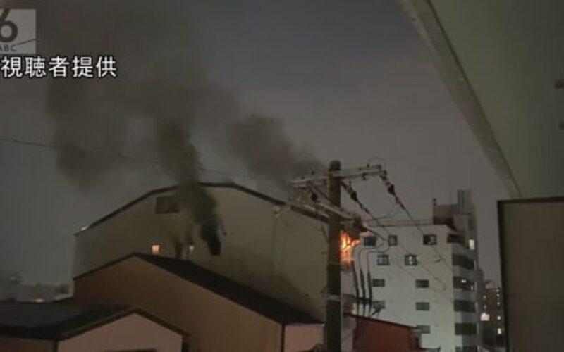 マンション火災で女性の遺体が発見され住人の男性が別のビルから転落死