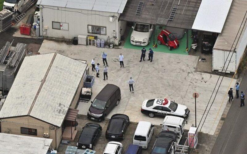愛知県豊田市の自動車修理工場で男性が頭から血を流し死亡