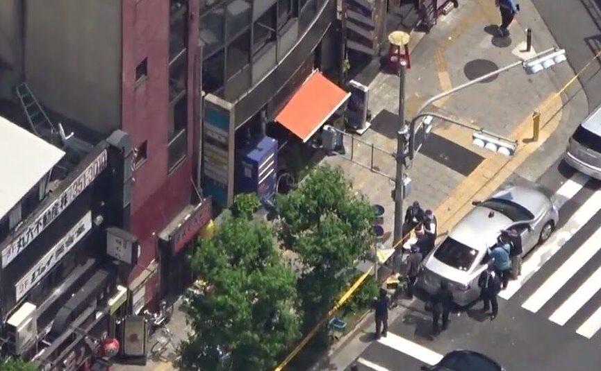 大阪市北区錦町の天満駅付近にある雑居ビルで女性経営者の刺殺遺体