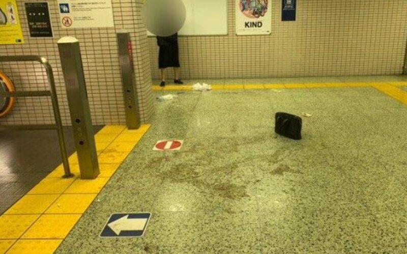 東京メトロ南北線駅でエスカレーターを降りた直後に男性が硫酸を掛けられ重傷