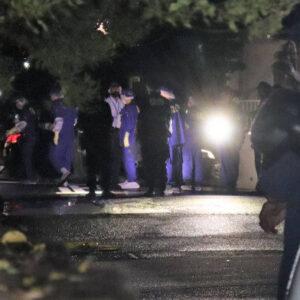 神戸市北区の路上で男女が刃物で争った形跡を残した殺人未遂事件