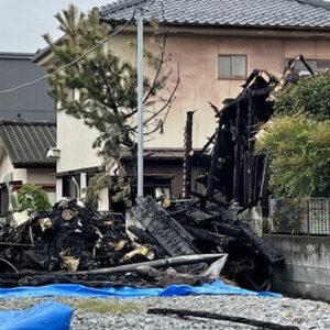 山梨県甲府市で住宅火災が発生し2人の遺体が発見された放火殺人